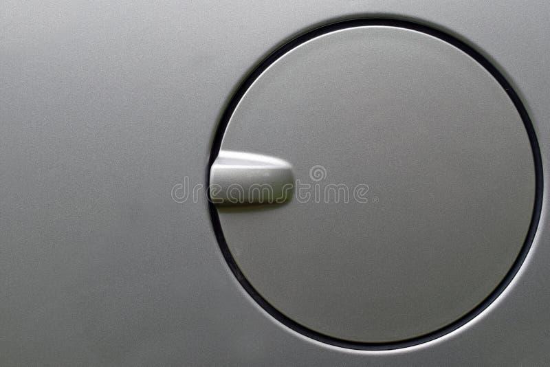 Close up of a car petrol cap cover. stock images