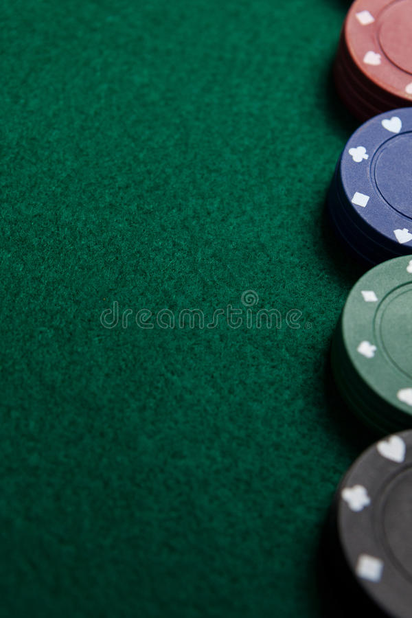 Close-up of casino chips stock images