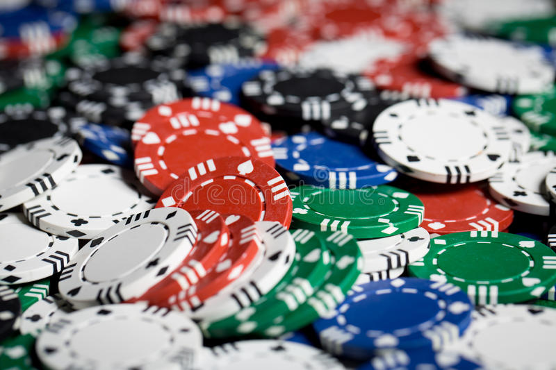 Close up of casino chips background royalty free stock photography