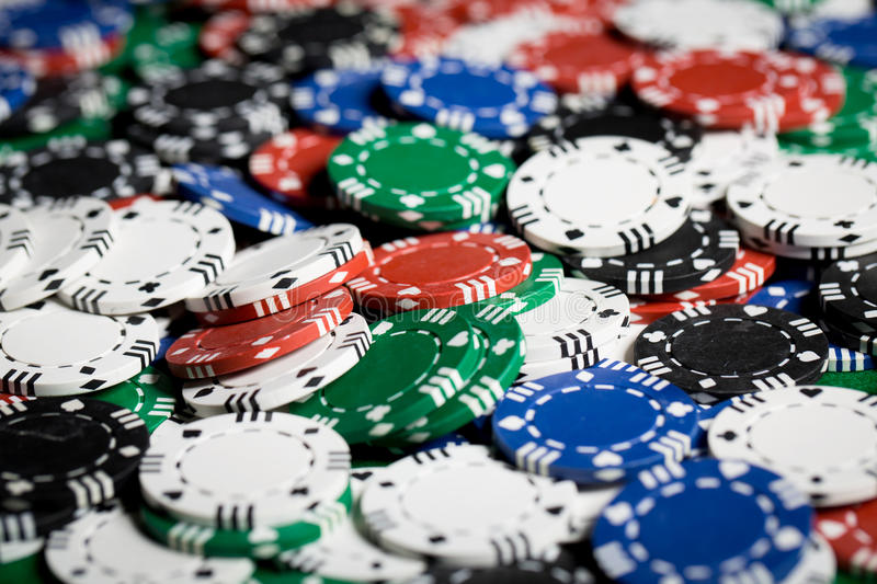 Close up of casino chips background royalty free stock photos