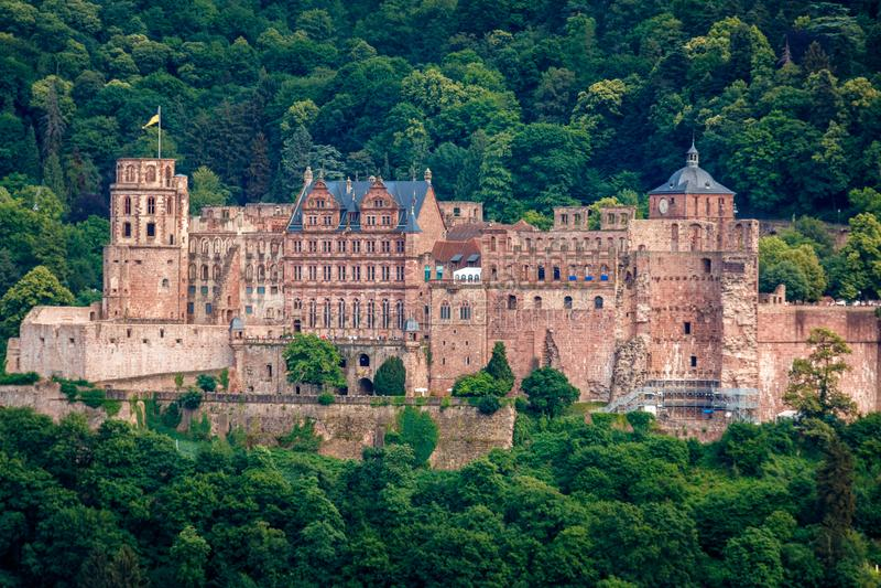 The castle Castle Ruin in Heidelberg, Baden Wuerttemberg, Germany stock images