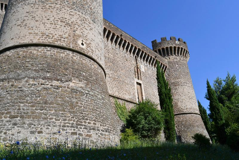 Close up of the Castle of Tivoli near Rome in Italy royalty free stock image