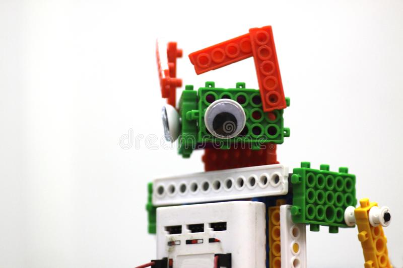 Close up of a cat robot stock photo