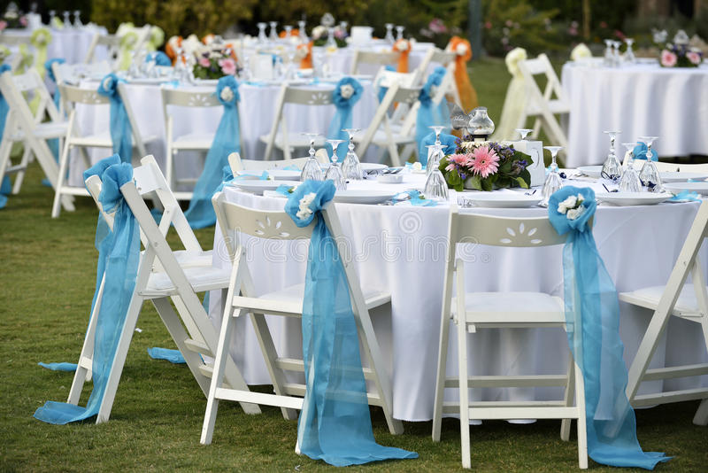 Download Close-up Catering Table Set Stock Image - Image: 34033771