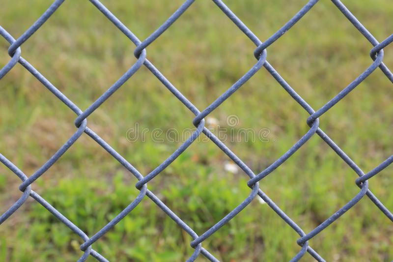 Close Up Of Chain Link Fence stock image