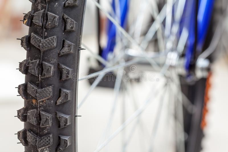 Chain and sprocket of bicycle royalty free stock photos