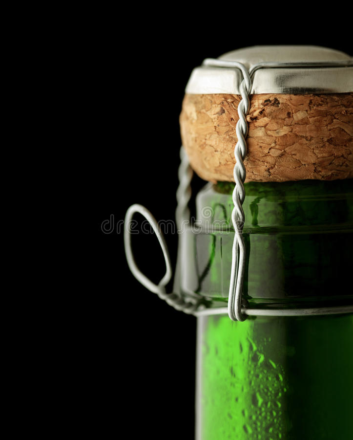 Close-up Champagne Cork royalty free stock image