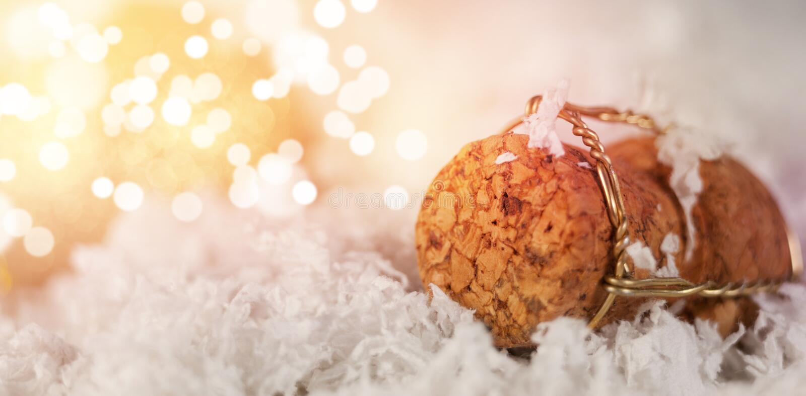 Close-up of champagne cork royalty free stock images