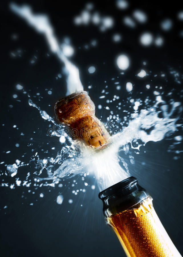 Close up of champagne cork stock images