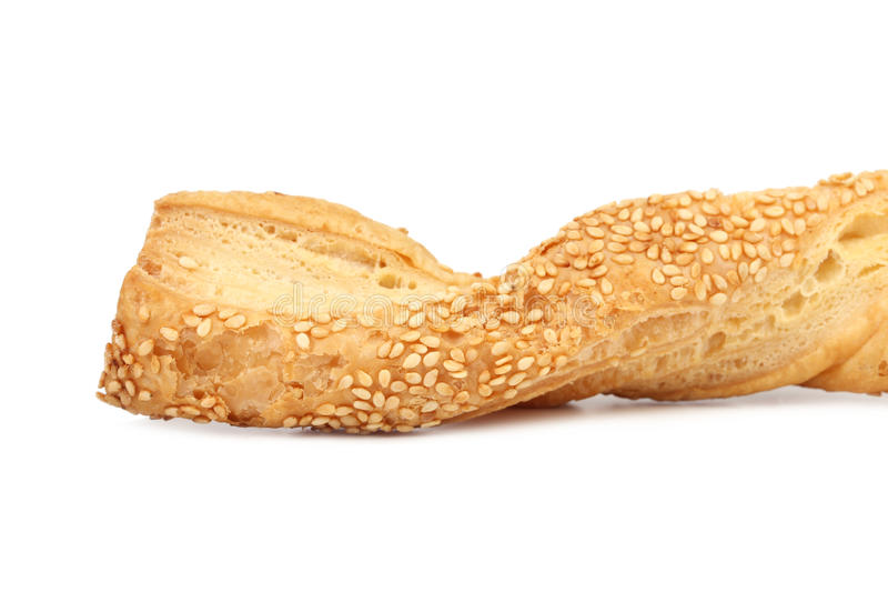 Close up of cheese sticks with seeds. royalty free stock photos