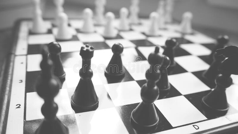 Close-up of Chess Pieces royalty free stock photography