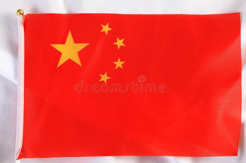 Close up of The China flag royalty free stock images