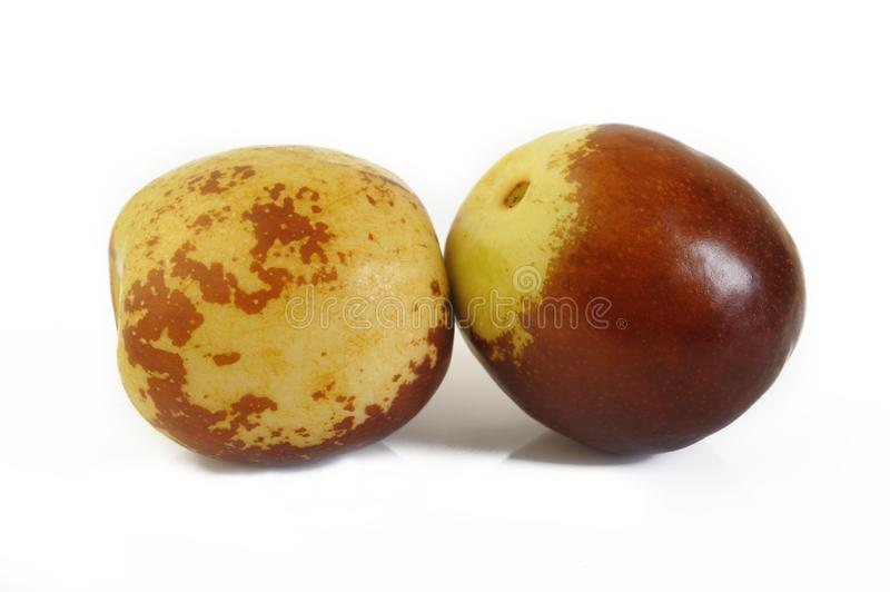 Close up of chinese jujubes stock image