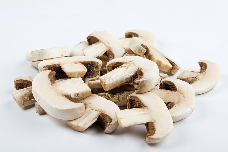 Close up of chopped mushrooms