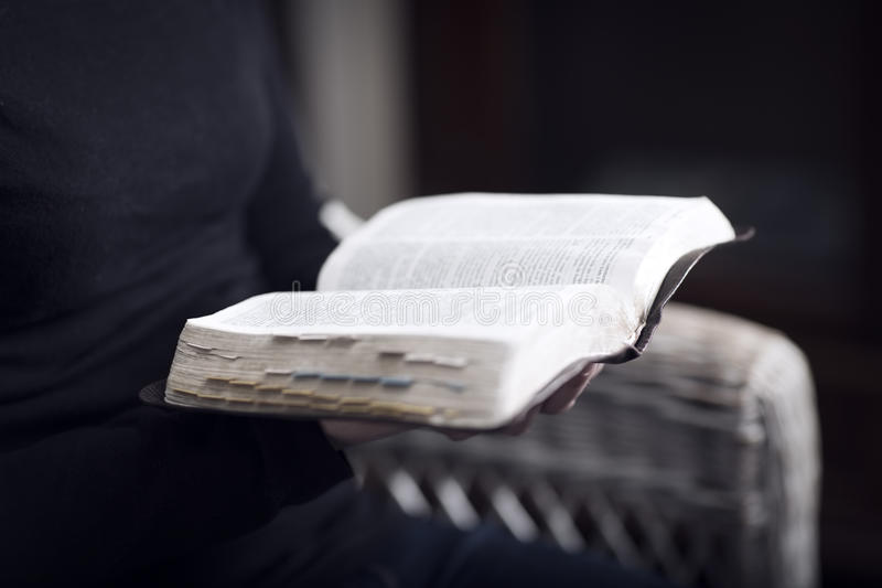Study the Bible royalty free stock photography
