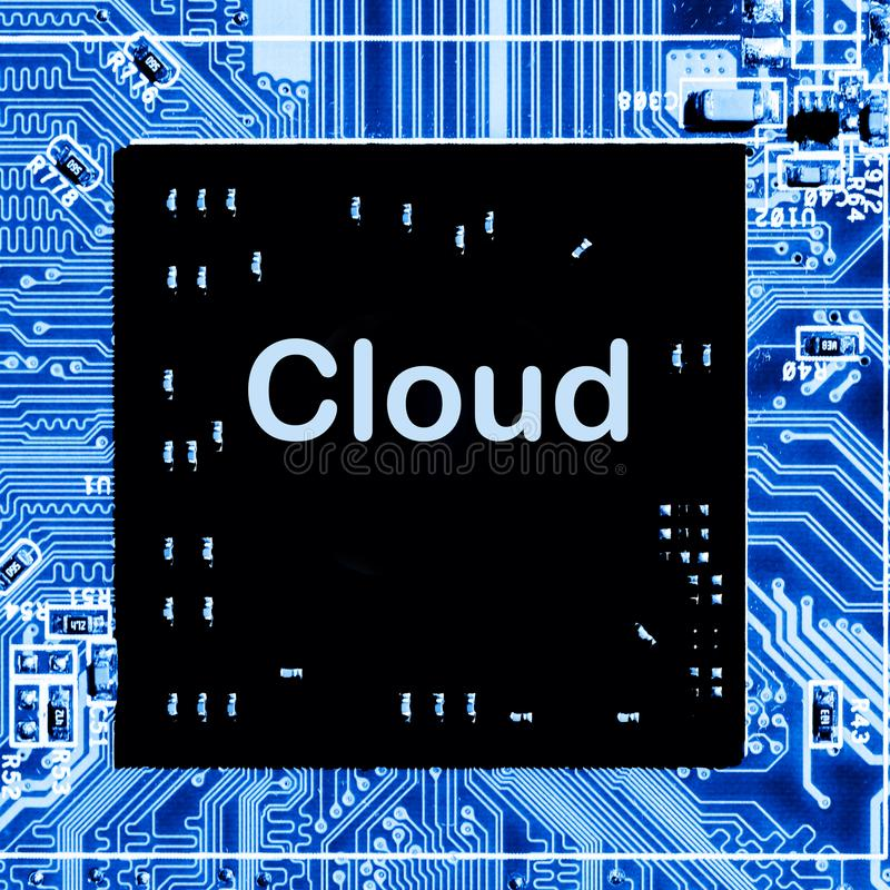 Close up of Circuits Electronic on Mainboard Technology computer background logic board,cpu motherboardCloud royalty free stock images