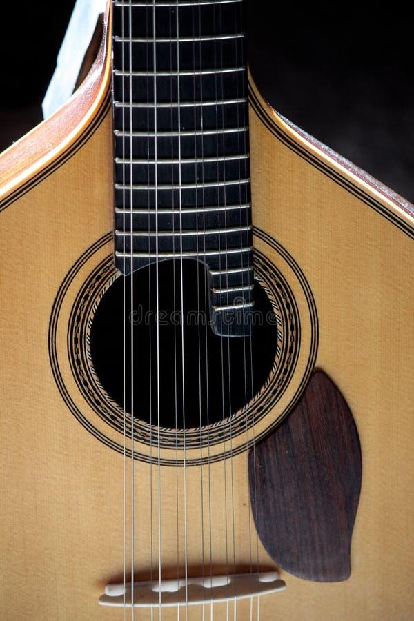 Close up clássico da guitarra fotografia de stock