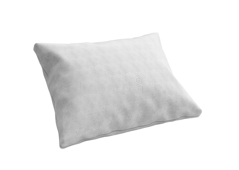 Close up of a clasic white pillow 3d render on white background. Close up of a clasic white pillow 3d render on white stock illustration