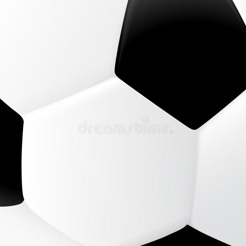 Close up of classic black and white soccer ball stock illustration