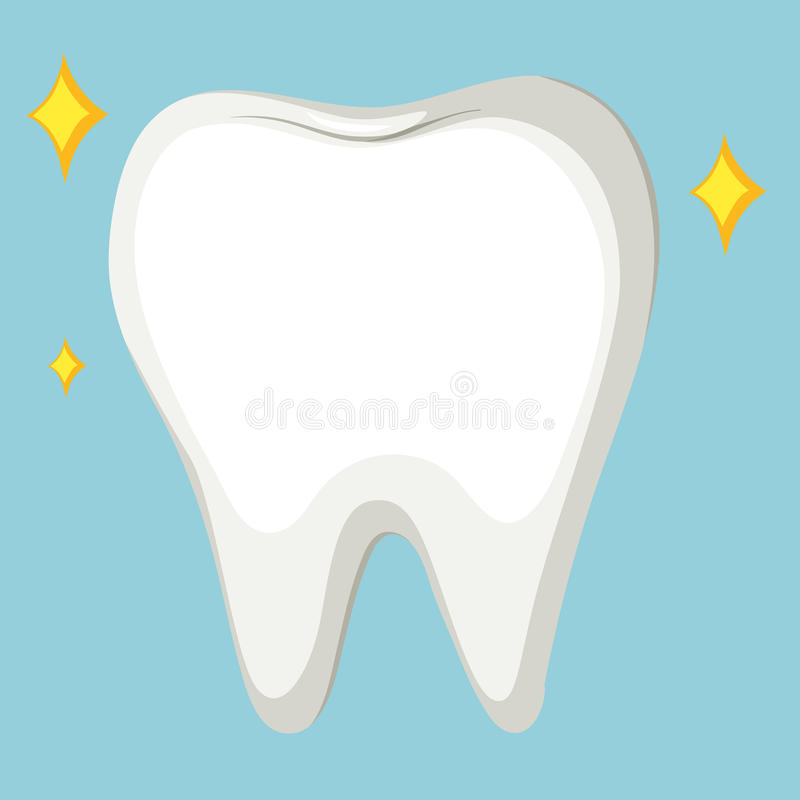 Close up cleaned tooth royalty free illustration