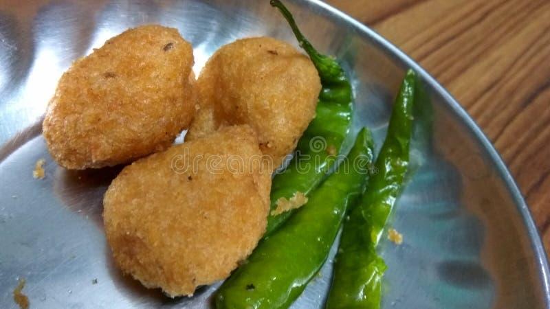 Fried Pakora royalty free stock images