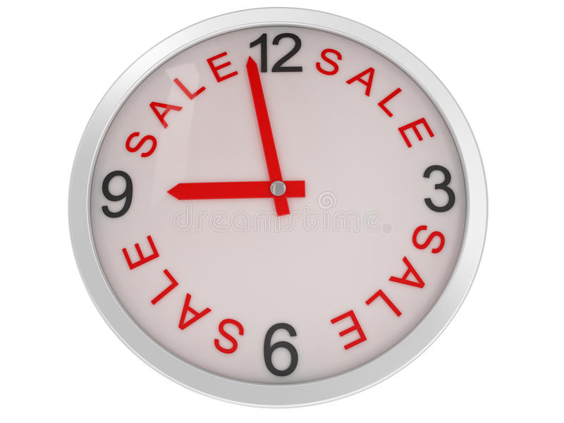 Download Close-up Clock sale stock illustration. Image of generated - 12740713
