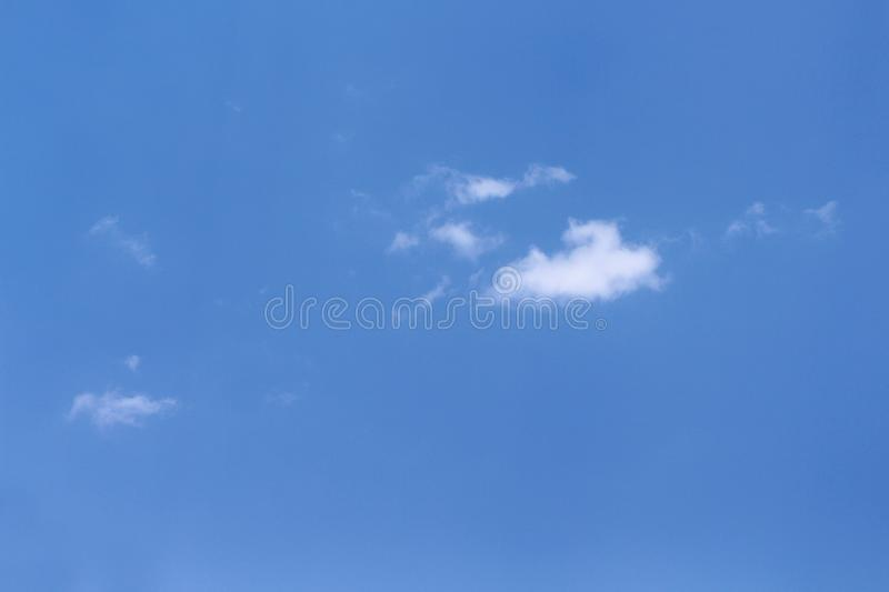 Clouds patterns with breezy on clear blue sky background stock photography