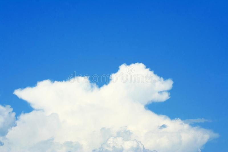 Clouds shape on clear sky royalty free stock photography
