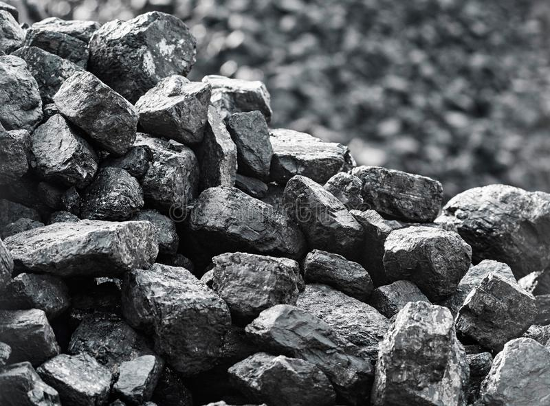 Close up of coal. Heap of coal. royalty free stock images