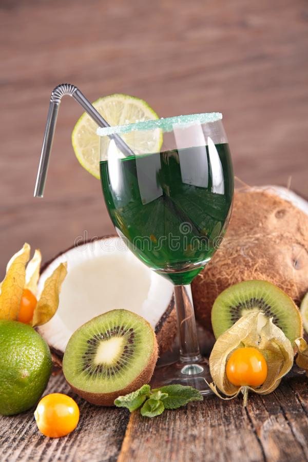 Cocktail with fruits royalty free stock photos