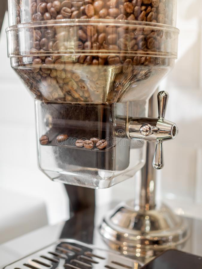Coffee bean contained in glass tubes royalty free stock image