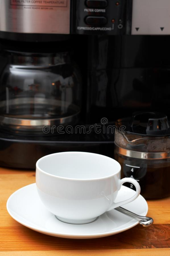 Close-up of coffee cup stock photography