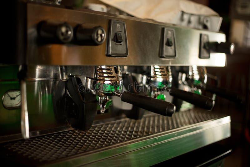 Espresso machine background stock image
