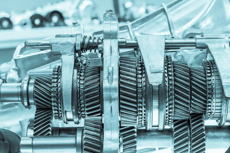 Close up cog wheels gears. Close up Mechanical ratchets, Metal cog wheels gears royalty free stock photo