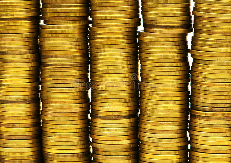 Download Close Up Of The Coin Stacks Stock Photos - Image: 12169743
