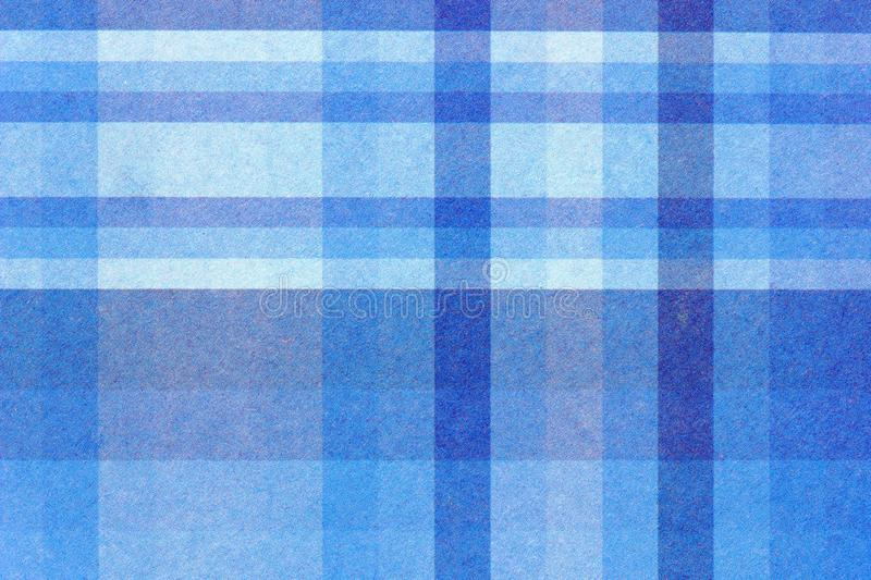 Blue Plaid Stripes Close Up. A close up color image of blue plaid paper used by crafters and card makers stock photography