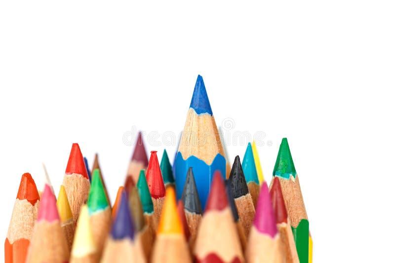 Close up color pencil stock image