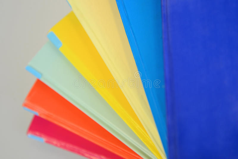 Close Up Of Colorful Book Covers Stock Photo - Image of books, close ...