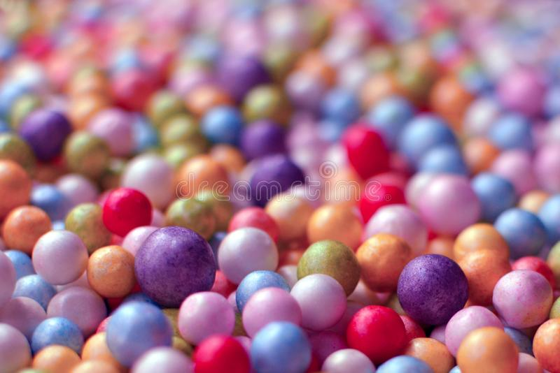 Close up of colorful foam balls royalty free stock photos