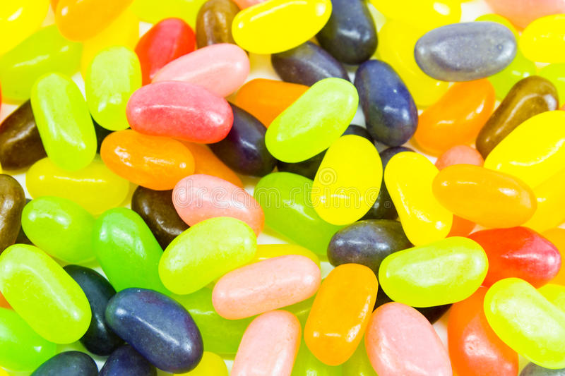 Close up colorful jelly beans pattern background royalty free stock images