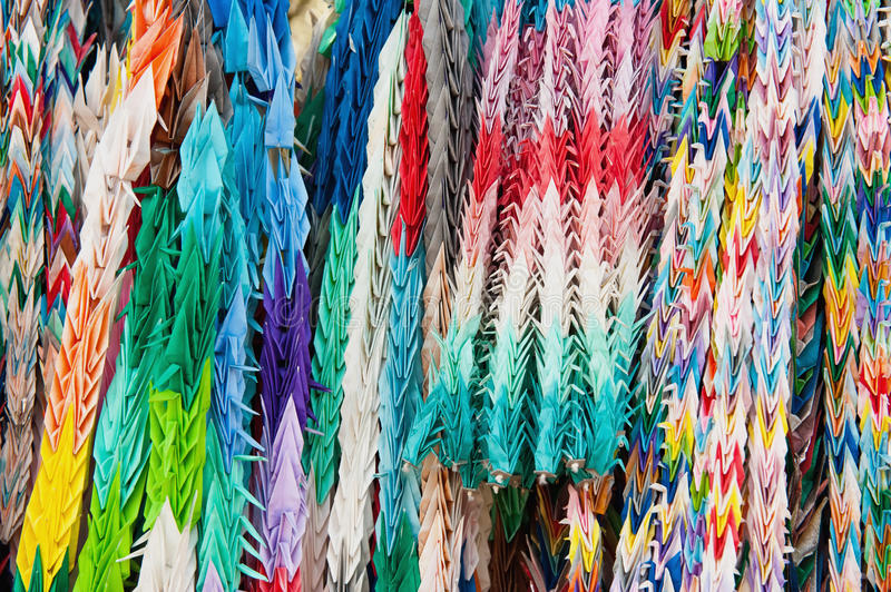 Download Close Up Of Colorful Origami Offerings Stock Image - Image: 33353539