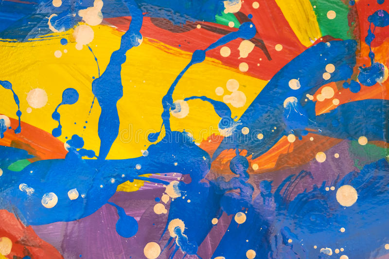 Close up of colorful simply abstract. Painting stock photography