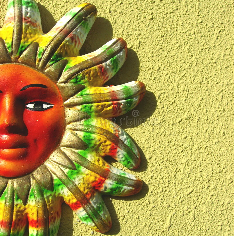 Close Up Of Colorful Sun royalty free stock images