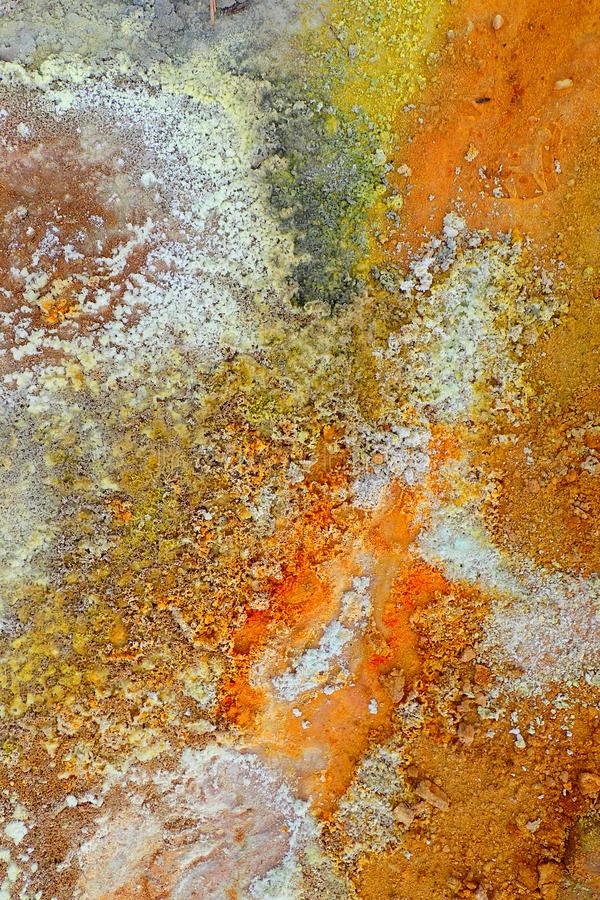 Close-up of colorful volcanic soil royalty free stock photography