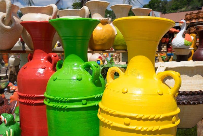 Close up colorido da cerâmica nas Honduras imagem de stock royalty free