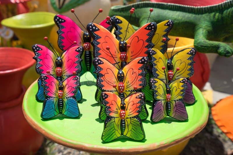 Close up colorido da cerâmica nas Honduras fotos de stock