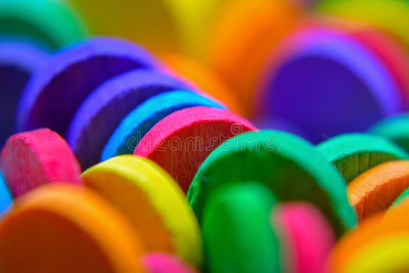 Close up colorido das varas foto de stock royalty free