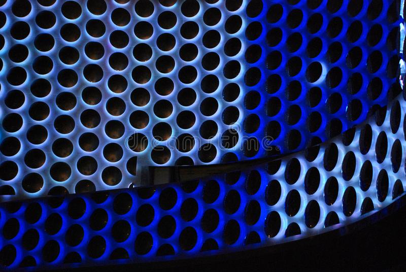 Comb pattern in blue and green usable as modern background stock photography