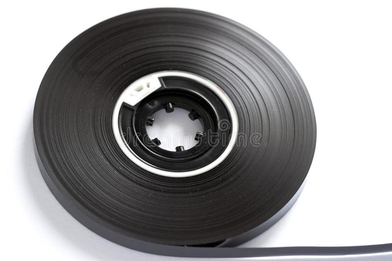 Close up compacto do conceito dos carretéis de fita da cassete áudio foto de stock royalty free