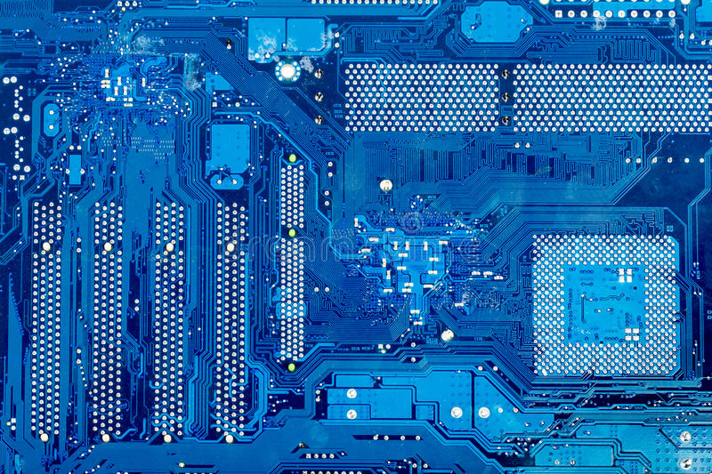 Close up of computer circuit motherboard stock photo